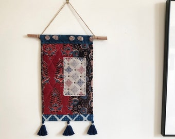 Bohemian Wall Art - Quilted Wall Decor - Stitch Wall Hanging