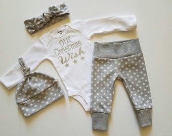 My First Christmas Outfit. Little Stars. My First Christmas Coming Home Outfit. Baby Christmas Outfit. Personalized Baby Christmas Outfit
