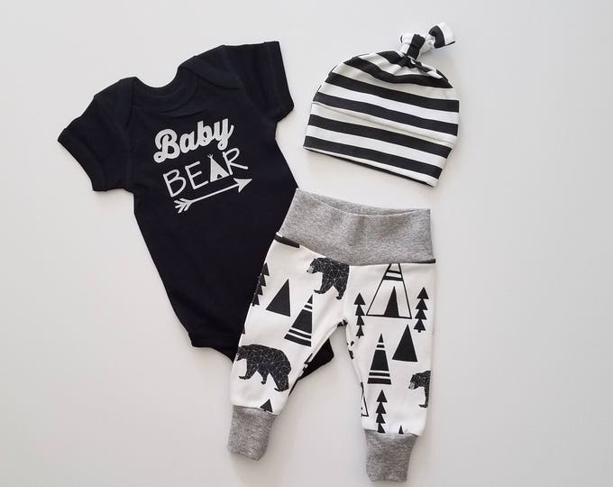 Featured listing image: Baby Boy Coming Home Outfit. Newborn Boy Coming Home Outfit. Boy Coming Home Outfit. Coming Home Outfit Boy. Baby Bear. Bear Tipi.