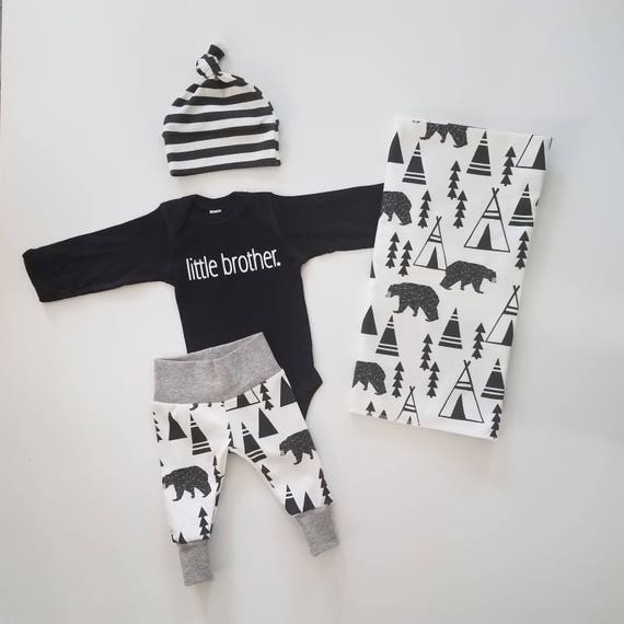 5f7f591f7 Boy Coming Home Outfit Baby Boy Coming Home Outfit Little Brother. Newborn  Boy Coming Home Outfit ...