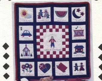 Childrens Quilt Pattern Applique comforter Bible Verse