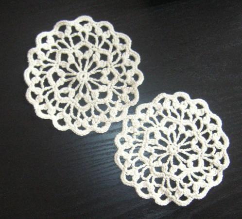Crochet Coaster Doily Thread Coaster Small Pattern Scallop Etsy