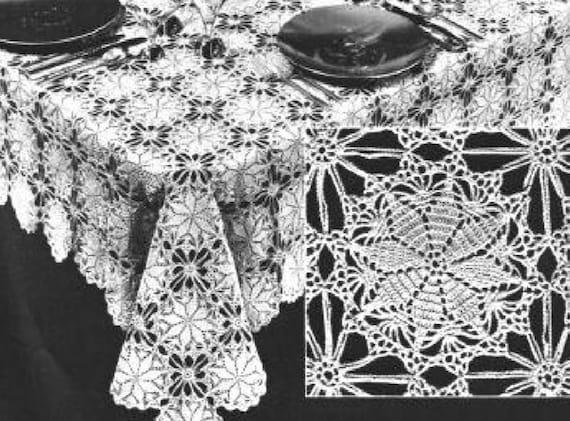 Tischdecke Häkelanleitung glücklichen Stern Tischdecke Motiv | Etsy