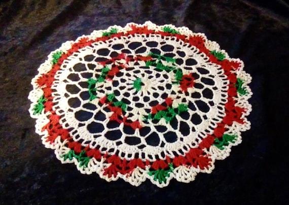Weihnachten Urlaub Deckchen Muster-Set Tisch Deckchen häkeln | Etsy
