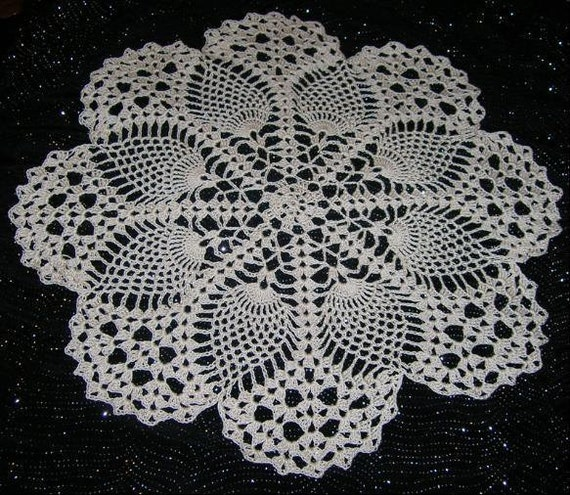 Etsy Pineapple Doily Patterns Pinwheel Picturesque Www