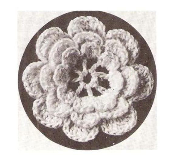 Irish Vintage Rose Patterns Thread Crochet Motif Etsy