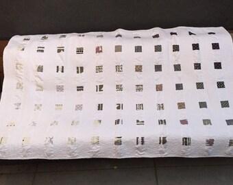 Minimalist Modern Quilt Black White Gray Quilt