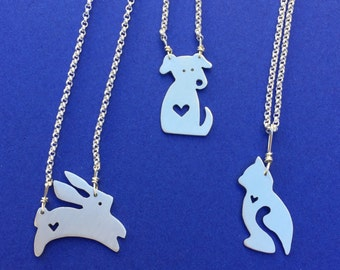 Little Creature Kingdom-sterling silver animals with heart
