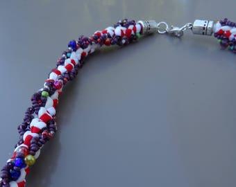 Groseille kumihimo necklace