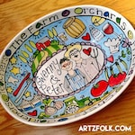 Do you Hate Boring Gifts? CUSTOM Family Deep Oval ceramic Serving Bowl Personalized great wedding or anniversary gift by Artzfolk