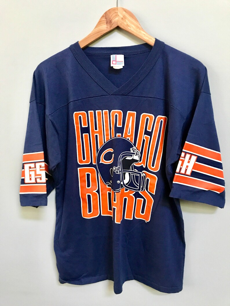 1bbe7c60b1b Vintage Chicago Bears 80s Football T-Shirt Ditka Mint Size | Etsy