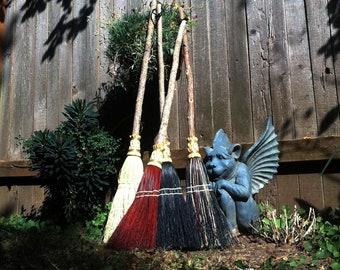 Children's Broom in your choice of Natural, Black, Rust or Mixed Broomcorn Kids Broom - Miniature kitchen Broom