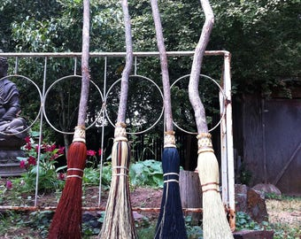 Rustic Wedding Besom in your choice of Natural, Black, Rust or Mixed Broomcorn - Jumping Broom & Handfasting Broom