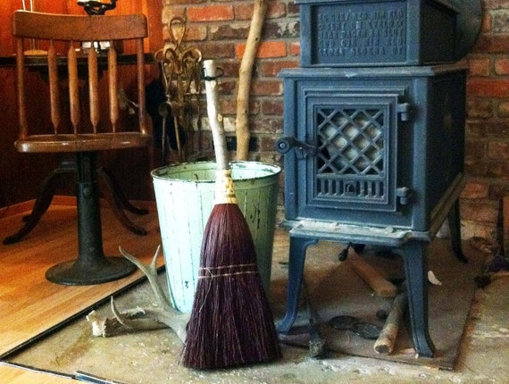 Fireplace Broom In Your Choice Of Natural Black Rust Or Etsy