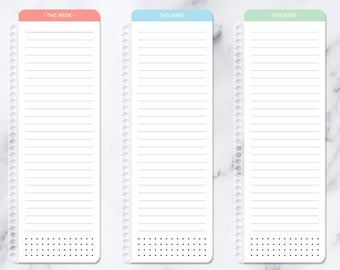 PAGEMARKER for planner bookmark clip-in page marker | laminated wet erase checklist notes | posypaper