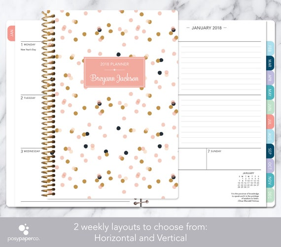 weekly planner 2019 2020 12 month calendar add monthly etsy
