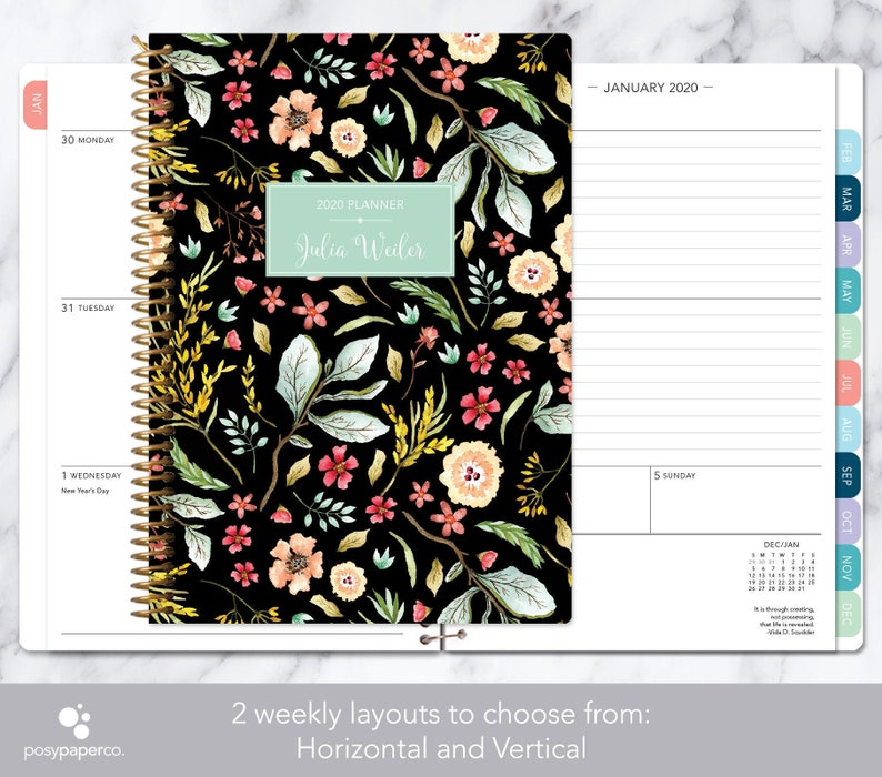 Best Selling Items On Etsy 2021 Personalized planner 2020 2021 calendar weekly planner | Etsy