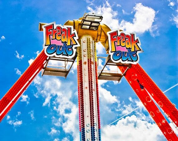 Freak Out Carnival Ride Fine Art Print or Canvas Gallery Wrap