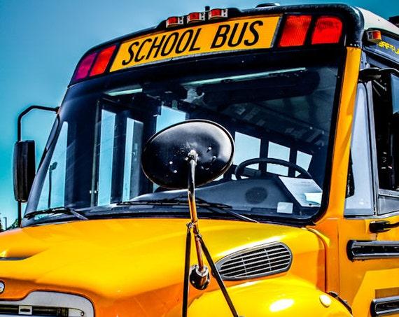 Yellow School Bus Fine Art Print or Canvas Gallery Wrap