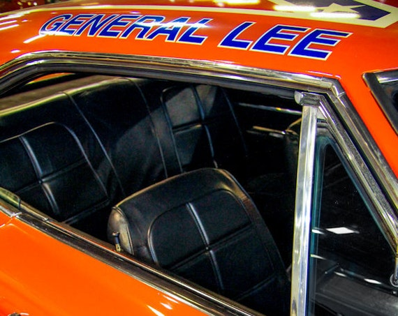 Dodge Charger General Lee Car 1968 Fine Art Print or Canvas Gallery Wrap
