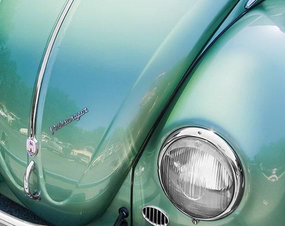 Volkswagen Bug Car 1957 Fine Art Print or Canvas Gallery Wrap