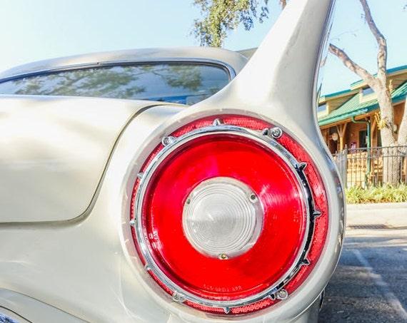 Ford Thunderbird Car Fin & Tail Light Fine Art Print or Canvas Gallery Wrap