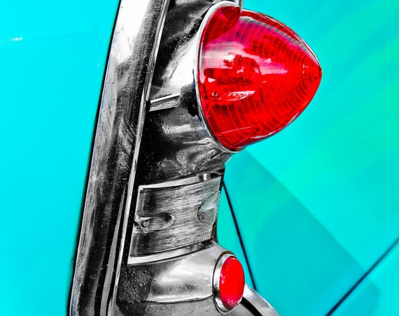 Chevrolet Bel Air Tail Light Fine Art Print or Canvas Gallery Wrap
