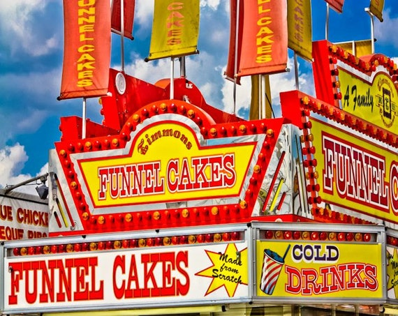 Funnel Cakes Carnival Vendor Fine Art Print or Canvas Gallery Wrap