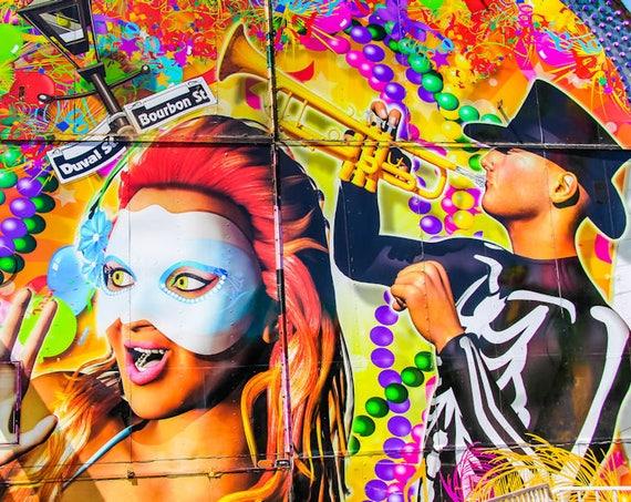 Mardi Gras Carnival Artwork Fine Art Print or Canvas Gallery Wrap