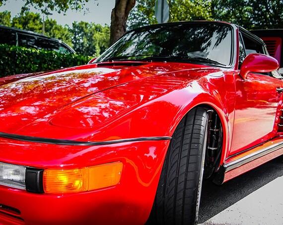 1989 Porsche 930 Slant Nose Turbo Car Fine Art Print or Canvas Gallery Wrap