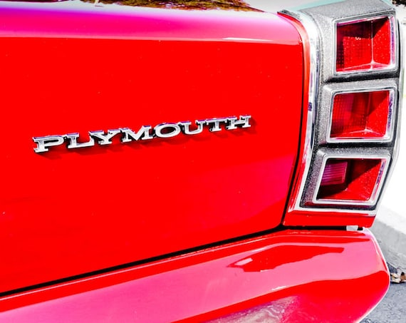 Plymouth Valiant Car Fine Art Print or Canvas Gallery Wrap