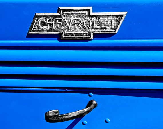 Blue Chevrolet Truck 1938 Fine Art Print or Canvas Gallery Wrap