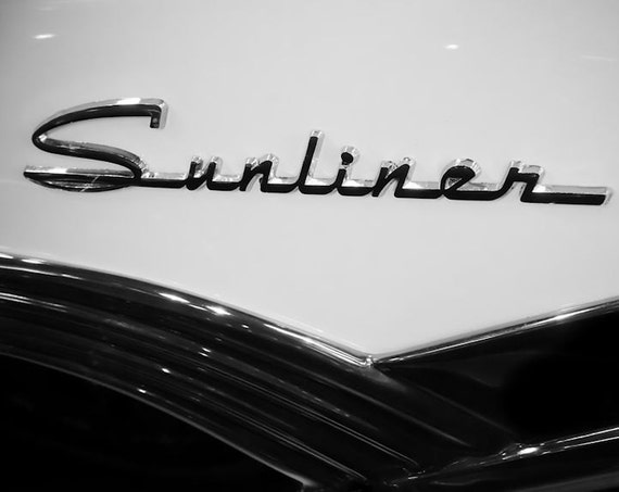 Ford Fairlane Sunliner Lettering Fine Art Print or Canvas Gallery Wrap