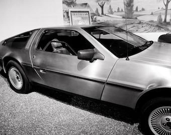 1981 DeLorean DMC-12 Car Photography, Automotive, Auto Dealer, Sports Car, Mechanic, Boys Room, Garage, Dealership Art
