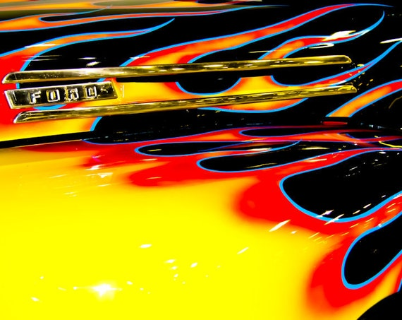 Ford F100 Pickup Truck Fine Art Print or Canvas Gallery Wrap