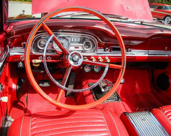 1963 Ford Falcon Futura Steering Wheel Fine Art Print or Canvas Gallery Wrap