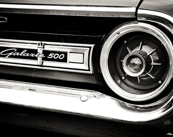 1964 Ford Galaxie 500 Back Emblem & Light Car Fine Art Print or Canvas Gallery Wrap