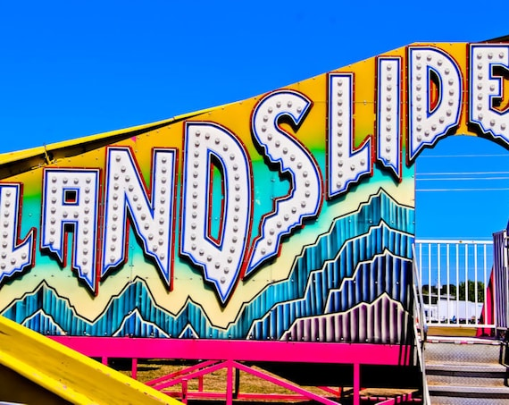 Landslide Neon Carnival Fine Art Print or Canvas Gallery Wrap