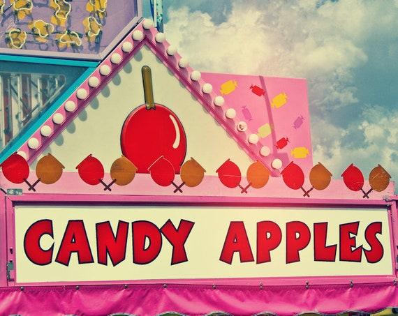 Candy Apples Carnival Vendor Fine Art Print or Canvas Gallery Wrap
