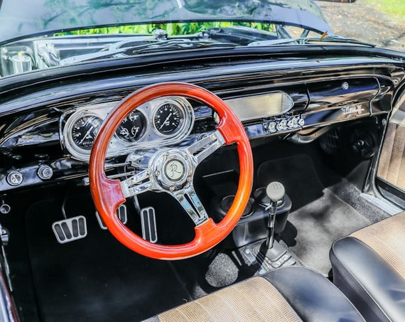 Chevrolet Nova Steering Wheel Fine Art Print or Canvas Gallery Wrap