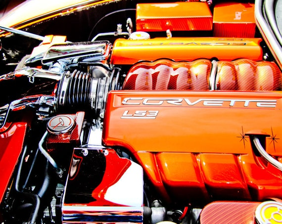 Chevrolet Corvette LS3 Engine Fine Art Print or Canvas Gallery Wrap