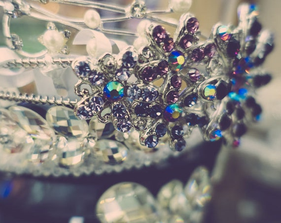 Vintage Rhinestone Tiara Fine Art Print or Canvas Gallery Wrap