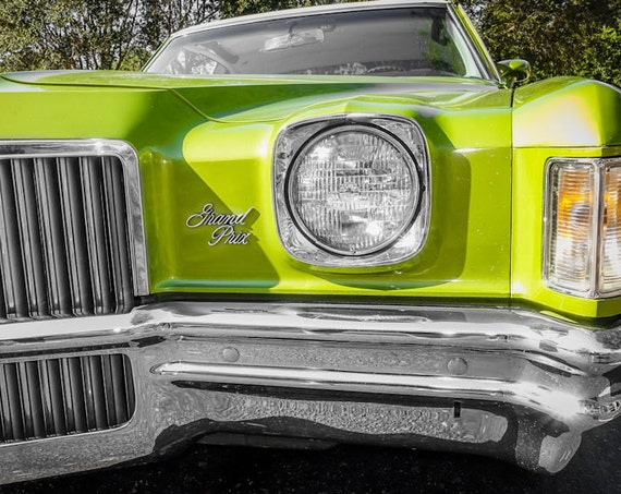 1972 Green Pontiac Grand Prix Fine Art Print or Canvas Gallery Wrap