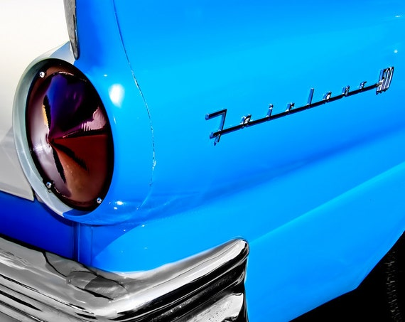 1957 Ford Fairlane Light & Lettering Car Fine Art Print or Canvas Gallery Wrap