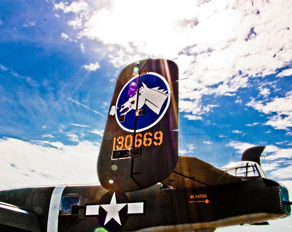 North American B-25 Mitchell Airlane Fine Art Print or Canvas Gallery Wrap