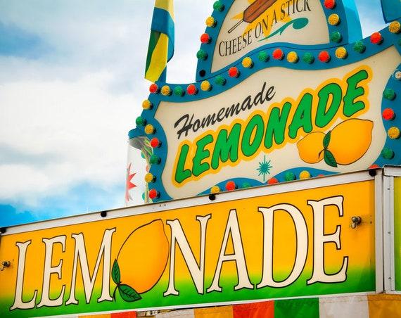 Homemade Lemonade Carnival Food Vendor Fine Art Print or Canvas Gallery Wrap