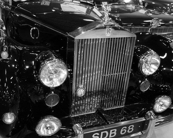 1951 Rolls-Royce Silver Dawn Car Fine Art Print or Canvas Gallery Wrap