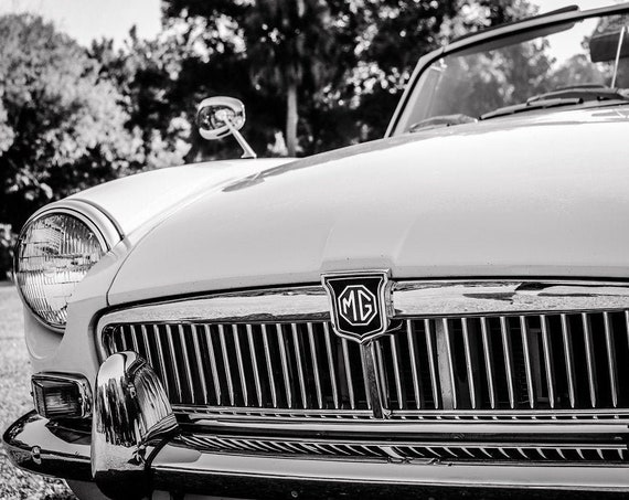 MGB Roadster Front End British Car Fine Art Print or Canvas Gallery Wrap