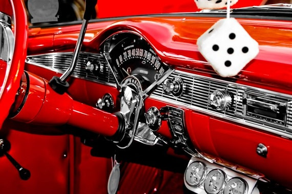 Chevrolet Bel Air Steering Wheel Car Fine Art Print or Canvas Gallery Wrap