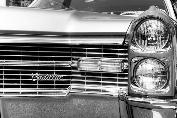 Classic Cadillac Coupe DeVille Car Fine Art Print or Canvas Gallery Wrap